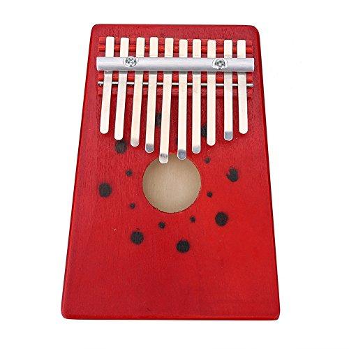 10 Teclas Kalimbas Piano para Principiantes Herramienta de Entrenamiento de Instrumentos Musicales 2 Colores ( Color : Rojo )