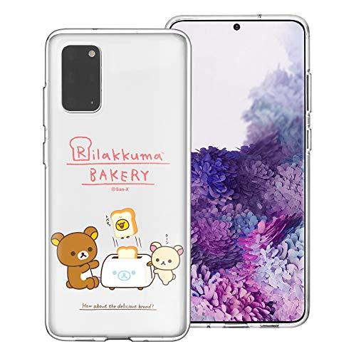 Compatible with Galaxy Note20 Ultra Case (6.9inch) Rilakkuma Clear TPU Cute Soft Jelly Cover - Rilakkuma Toast