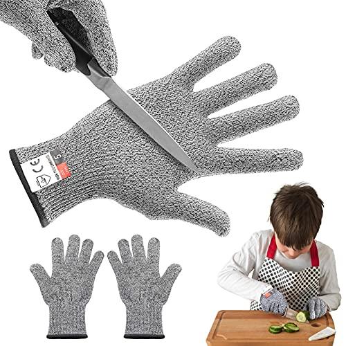 Schnittfeste Handschuhe Kinder, XS (17*8cm) Schnittfeste Arbeitshandschuhe, Schnittschutzhandschuh Level 5, Schnittschutz-Handschuhe küche, Schneiden Schutz kinder, Sicherheit Handschuhe