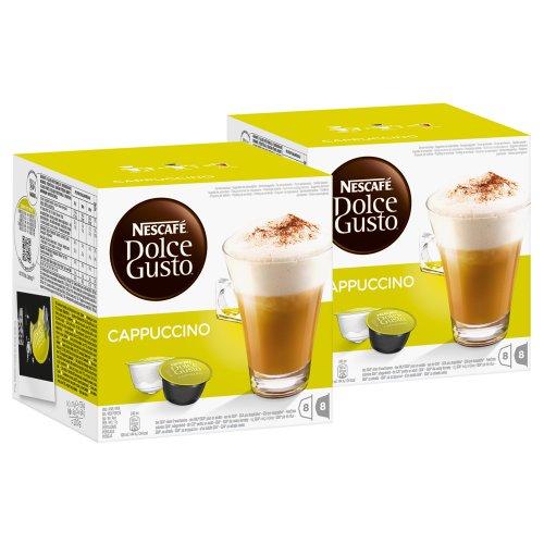 Nescafé Dolce Gusto Cappuccino, 2 Confezioni, 2 x 16 Capsule (16 Tazze)