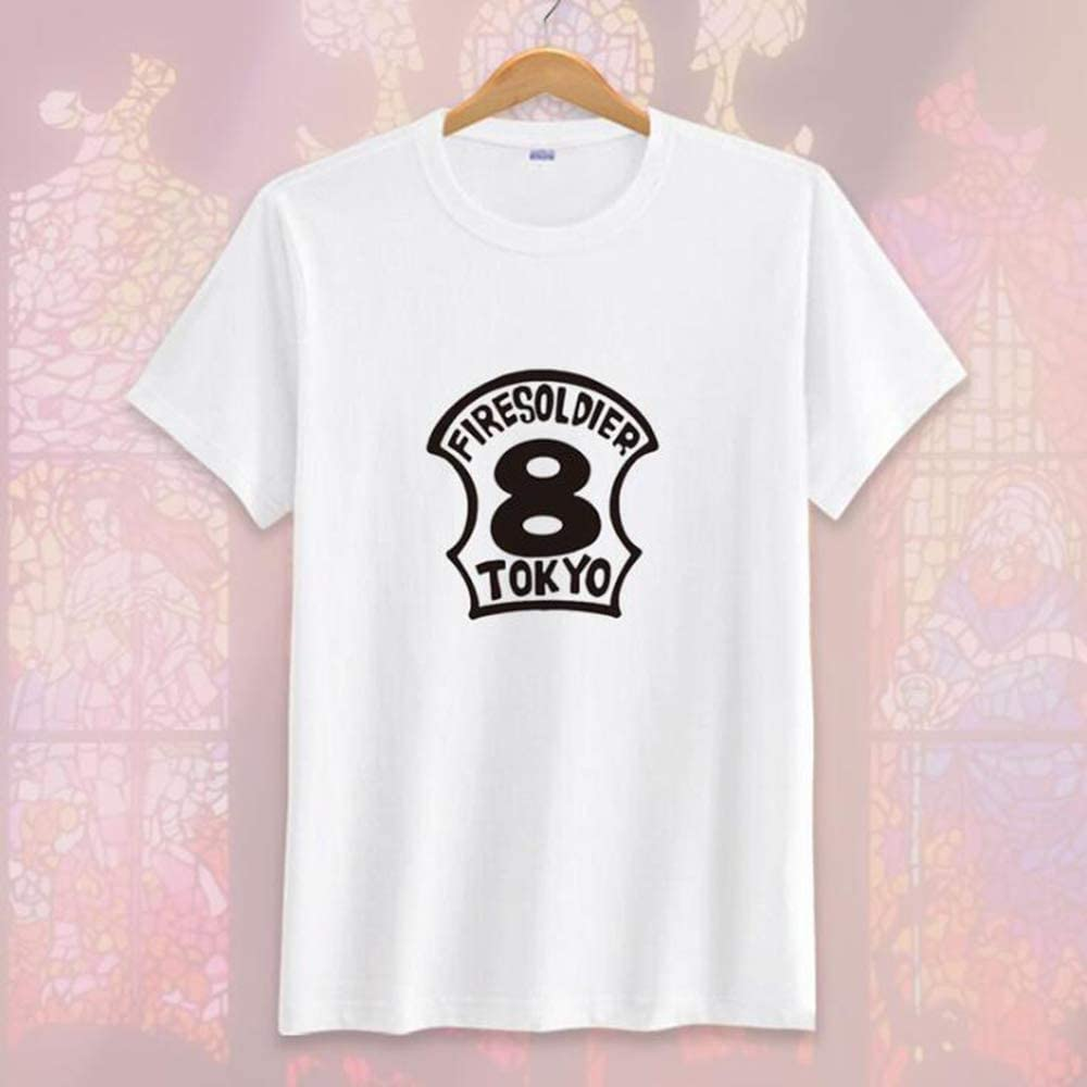 Unisex Anime Fire Force T-Shirt Shinra Kusakabe Tunica Tinta Unita t-Shirt Manica Corta Casual