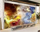 Fototapete Farbige Wolken Selbstklebende Tapeten Wand Fototapeten Tapete Wandtapete XXL Wand Dekoration Wohnzimmer Schlafzimmer Büro Flur 450x300 cm - 9 Streifen