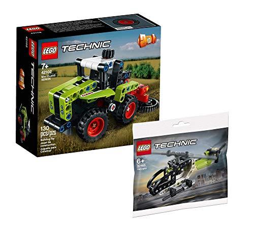 Collectix Lego Technic Mini Claas XERION Tractor 42102 + helicóptero Lego Technic 30465 (bolsa de plástico)
