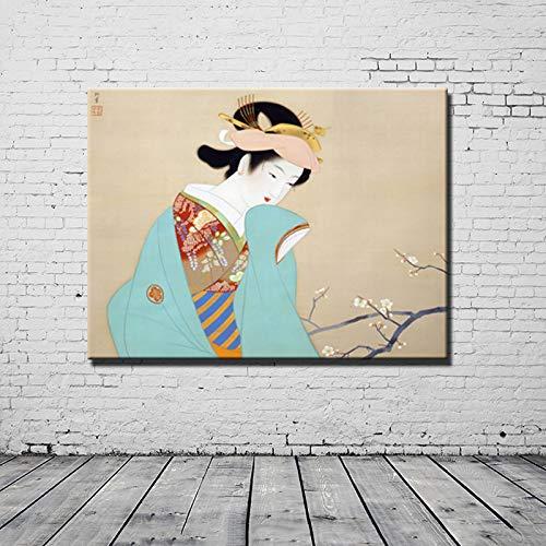 N / A Japanische Schönheitskunst Malerei Ölgemälde drucken Poster Bild nach Hause Wohnzimmer Dekoration 20x30 cm No Frame