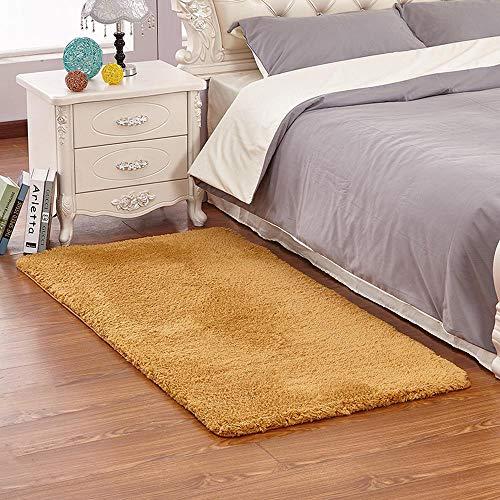 YYANG Moderne Minimalist Cashmere Arctic Fleece Wohnzimmer Couchtisch Teppich Schlafzimmer Voll Teppich Teppich Bett Decke F-60 * 120cm