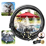 Best Cobra Garden Hoses - Landgarden Outdoor Misting Cooling System,33ft Misting Line,11 Brass Review