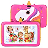 Tablet for Kids, 7 inch Kids Tablet Android 9.0 2GB 16GB Learning Tablet with IPS Eye Protection Screen Dual Cameras WiFi GMS Certified Kids Proof Children Tablets Parent Control, Rose