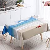 WEHOLY Tischdecken Große, wasserdichte Tischdecke Abwischbare, schmutzabweisende, ölbeständige,...