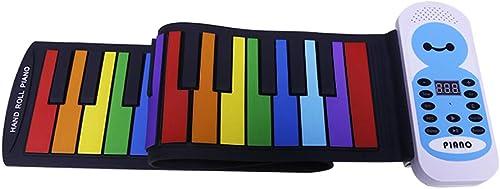 Puzzle Klavier Hand Roll Klavier 49 Schlüssel Tragbare Kinder Hand Roll Elektronische Tastatur Anf er Erwachsenen Hause Verdickung Version