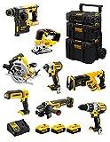 DeWALT Kit DWK805 (DCD996 + DCH273 + DCG405 + DCF887 + DCS334 + DCS367 + DCS570 + DCL050 + 3 Batterie 5,0 Ah + Caricabatterie + Caddy 3en1)