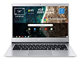 Acer Chromebook 514 CB514-1H-C0N4 Notebook Portatile, Intel Celeron Quad Core N3450, RAM 4...
