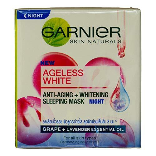Garnier Ageless White Anti Aging Whitening Night Cream 50ml 1.7oz