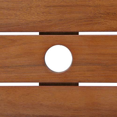 不二貿易ガーデン八角テーブル直径90cmブラウン81061