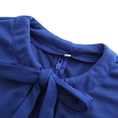 Ez-sofei Women's Vintage 1940s Open Chest Cocktail Swing Dresses S Blue