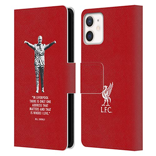 Official Liverpool Football Club Liverpool Bill Shankly Quotes PU Leather Book Wallet Case Cover Compatible For Apple iPhone 12 Mini