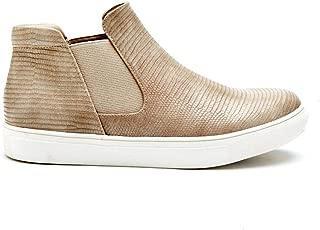 Harlan Taupe Lizard Girl Sneakers (2)