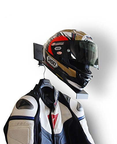 Mesa Metal Works Motorcycle Helmet and Jacket Holder Helmet Wall Mount Helmet Rack