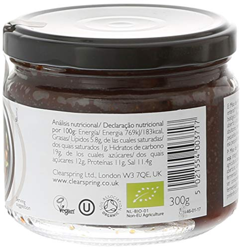 Clearspring Genmai Miso No Pasteurizado, Pack de 1 x 300 g