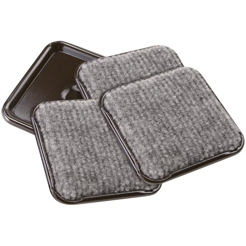 softtouch 2 1/2quot Square Carpeted Bottom Furniture Caster Cups Protect Hardwood Floors Gray 4 Pack