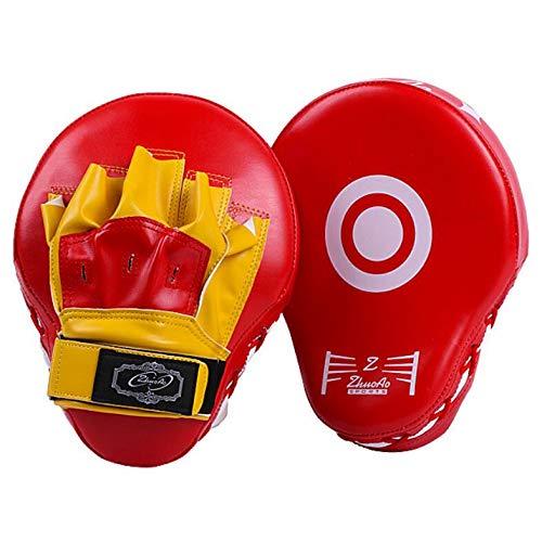 YOUSHANG Boxeo Entrenamiento   Manoplas Boxeo Rojo Amarillo   Las Almohadillas de Ataque Son duraderas   Patas de Oso para Boxeo   Entrenamiento de Muay Thai Taekwondo Sanda Fight
