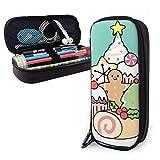 Estuche para lápices de postre navideño para niños y niñas, tamaño grande, para estudiantes, colegios y oficinas