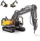 Telecomando Escavatore Truck, 2.4G Grande Digger Veicolo Ricaricabile Giocattolo di RC, 1:16 Simulazione Completa Digging Funzionale per Il Regalo Bambini