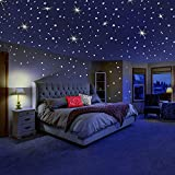 DreamKraft Glow in the Dark Galaxy of Stars with Moon Radium Wall Stickers
