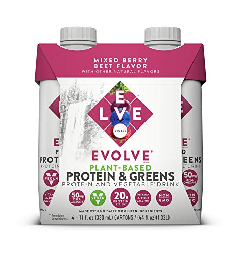 Price comparison product image Evolve Plant-Based Protein & Greens,  Mixed Berry Beet,  11 Fl Oz (Pack of 12)