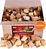 Zorestar Alder Wood Chunks for Smoking and Grilling - BBQ Cooking Wood 15 lb - All Natural Smoker...