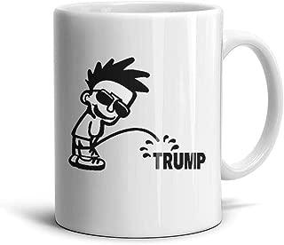 smsdpmc Boy Pee Pissing on Trump Coffee Mug Tea Mug Coffee Mugs 11 Oz Mug