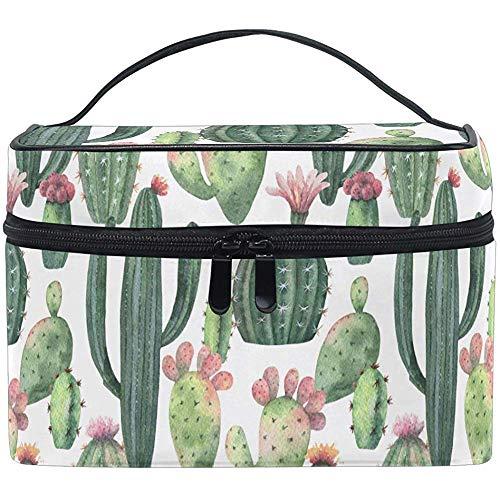 Bolsa de Cepillo de artículos de tocador con patrón de Cactus Vintage exótico Natural Que Lleva Bolsas de Almacenamiento portátiles Box-NTP-45S4