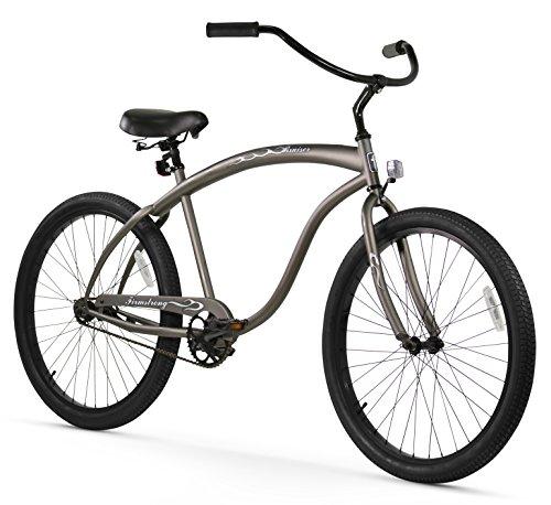 Firmstrong Bruiser Man Single Speed Beach Cruiser Bicycle, 26-Inch, Matte Grey