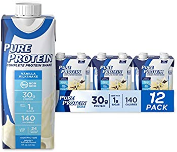 12-Pack Pure Protein Complete Protein Ready to Drink Vanilla Shake 11 Oz