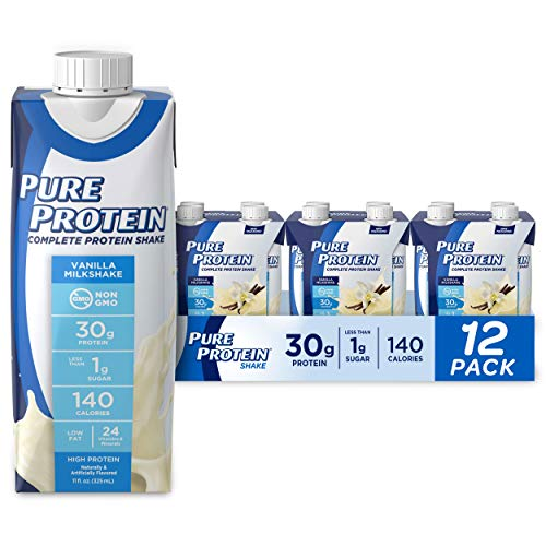 Pack of 12 and 11oz, Complete Protein Ready to Drink Vanilla Shake -$14.70(45% Off)