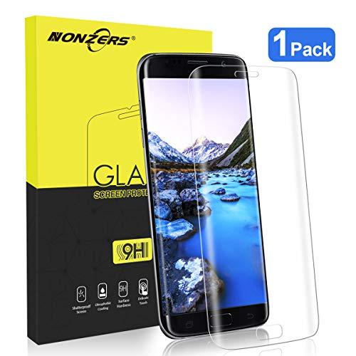 NONZERS Cristal Templado para Samsung Galaxy S7 Edge, [1 Unidades] 9H Dureza, HD...