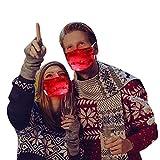 Lulupi Glitzer Mundschutz Multifunktionstuch Weihnachten LED Licht Maske Bandana Glänzend Weihnachtsmotiv Druck Mund und Nasenschutz Weihnachts Halstuch Schal Christmas Festival Kostüme Santa Kleidung