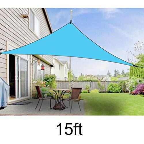 Gelentea Sonnensegel UV-Schutz Baldachin Outdoor Schatten Dreieckig regendicht Sonnensegel Sonnensegel für Outdoor Garten Terrasse Party, himmelblau, 15ft*15ft*15ft