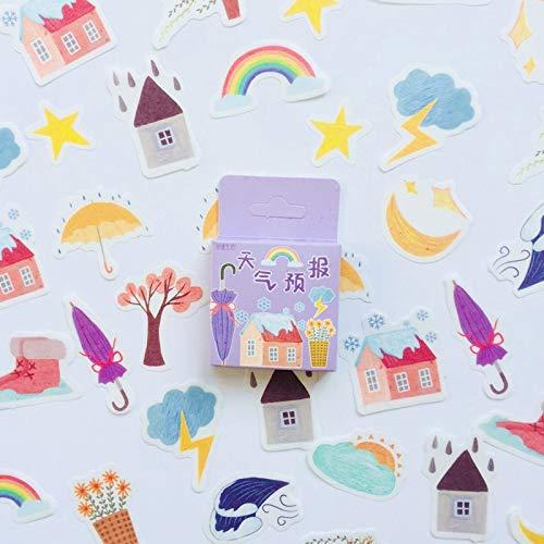Zomer Stijl Regenboog Weer Washi Papier Decoratieve Stickers45 Stks/doos
