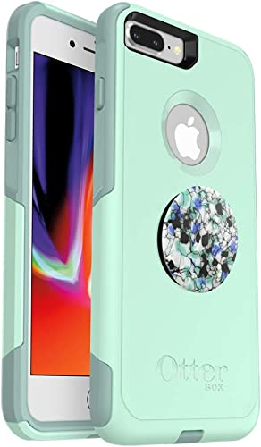Bundle: OtterBox COMMUTER SERIES Case for iPhone 8 PLUS & iPhone 7 PLUS (ONLY) – (OCEAN WAY) + PopSockets PopGrip – (...