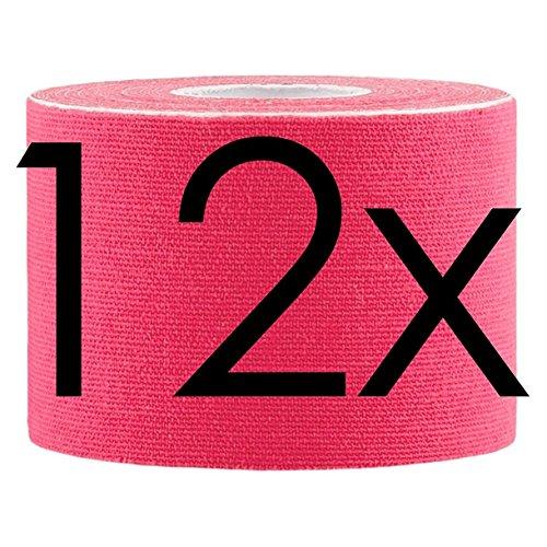 Lumaland Kinesiologie Tape elastisches Klebeband 5mx5cm, 12x pink