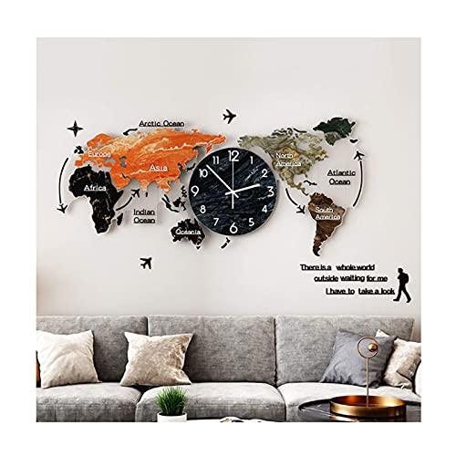NC Autocollant Mural Carte du Monde, Autocollants muraux 3D en Acrylique, Mur de Carte du Monde, décoration Murale, Facile à appliquer et Amovible. LKWK