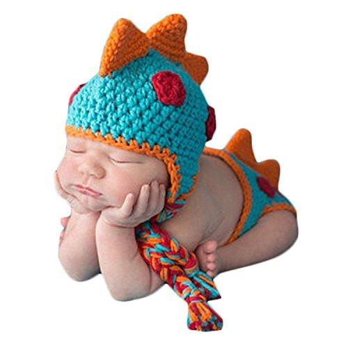 TOOGOO Accesorios de fotografia foto de punto de ganchillo bebeTraje de panal sombrero de hecho a mano