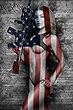 2nd Amendment by Daveed Benito Hot Girl Cool Wall Decor Art Print Poster 12x18
