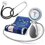 AIESI Sfigmomanometro Manuale Professionale Aneroide modello palmare per adulti con stetoscopio...