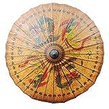 CLISPEED Paraguas de Papel Chino Estilo Clásico Retro Pintado a Mano Papel Al Óleo Parasol Rendimiento Props Impermeable Parasol para Mujeres Hombres Dragón
