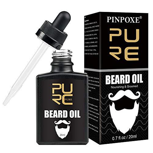 Beard Oil, Bartöl, Bartpflege, Bart Öl für Männer zur Bartpflege rein natürliche Intensive Bartpflege Natürlich Biologisch Bart Öl Natürliches organisches Haarwachstumsöl, 20ml