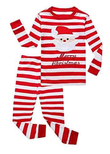 Family Feeling Little Boys Girls' Santa Claus Christmas Cotton Long Sleeve Pajama Set Pjs 7
