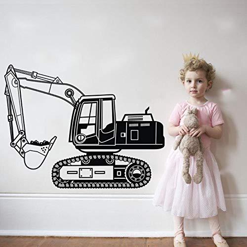hetingyue Fotobehang, vinylbagger, vrachtwagen, jongens, woonkamer, slaapkamer, woonkamer, behang, verbetert wandafbeelding
