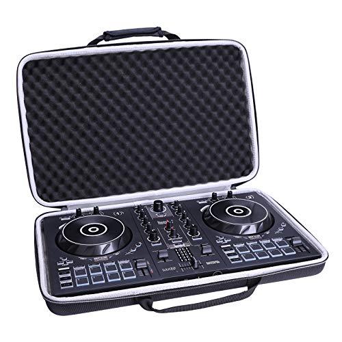 Étui pour Hercules DJControl Inpulse 300 Contrôleur DJ,XANAD Voyage dur Housse de Rangement - Noir (Doublure Grise)