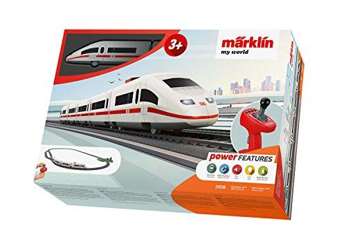 Märklin 29330 my world � Startpackung Ice 3, Modelleisenbahn für Kinder ab 3 Jahre, Licht-und Soundeffekte, 5-teiliger Zug, batteriebetrieben, Spur H0